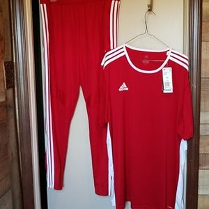 mens athletic wear pants and top by Adidas